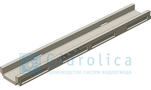 Лоток водоотводный Gidrolica®PolyStandart ЛВ-10.14.06 полимербетонный