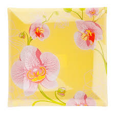 Блюдо квадратное Орхидея 830-175