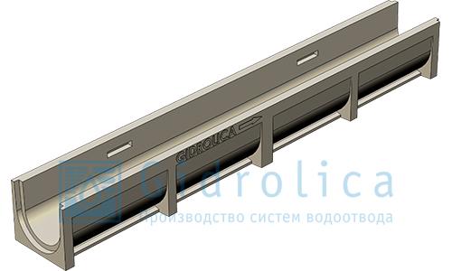 Лоток водоотводный Gidrolica®PolyStandart ЛВ-10.14.13 полимербетонный