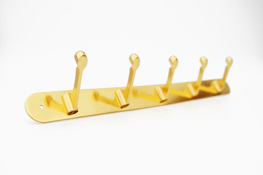 Вешалка 6 крючков золото
