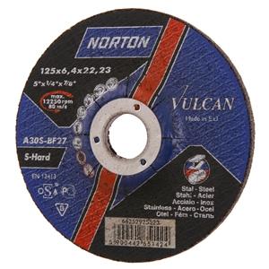 Диск отрезной по металлу 230х22х2,5 мм NortonVulcan
