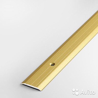 'Порог-стык АЛ-163 Золото 1м