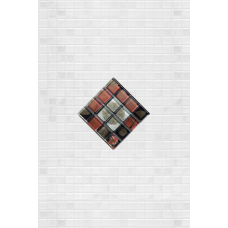 Декор ДОМИНО кристалл коричневый 20х30