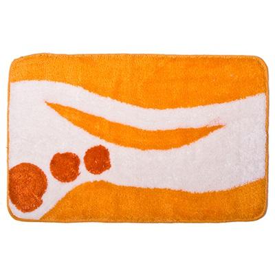 Коврик для ванной ГРАФИКА оранжевый 50*80см