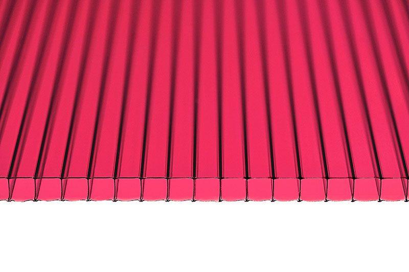 Поликарбонат 6мм красный
