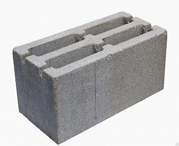 'Блок пескобетон 190х190х390 мм щелевой вес.18 кг.