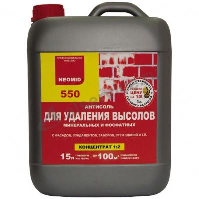 Антисоль NEOMID-550 5л состав для удаления высолов концентрат 1:2