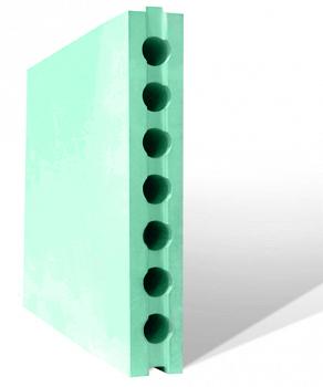Плита пазогребневая 667х500х80мм ПГП влагост., пуст.(для внут.перегородок б/штукатурки) 0,33 кв, м