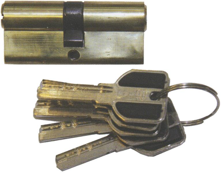 Цилиндр для замка Премиум (А26-6) 60 мм бронза