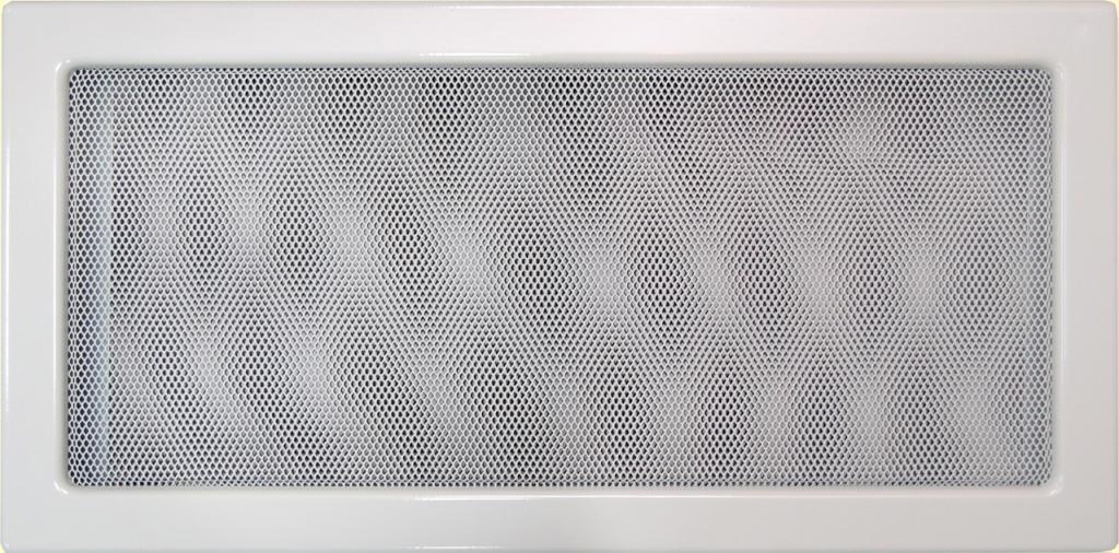 'Решетка вент.для камина 220 х300 мм RKB белая KRATKI