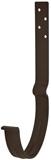 Аквасистем Крюк крепления желоба длинный, система 90/125 (коричневый RR32)