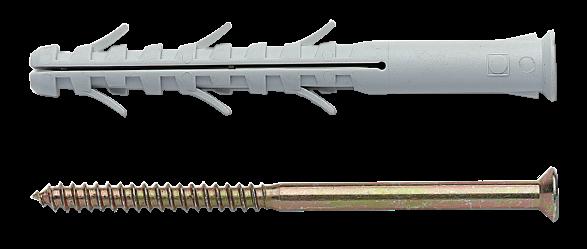 Дюбель рамный с шурупом шлиц 6х60мм (8 шт) 33771