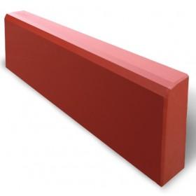 Бордюр тротуарный 500х210х60 мм красный  вес 13 кг.