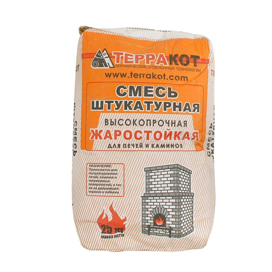 Терракот смесь глино-шамотная штукатурная жаростойк высокопроч 10кг