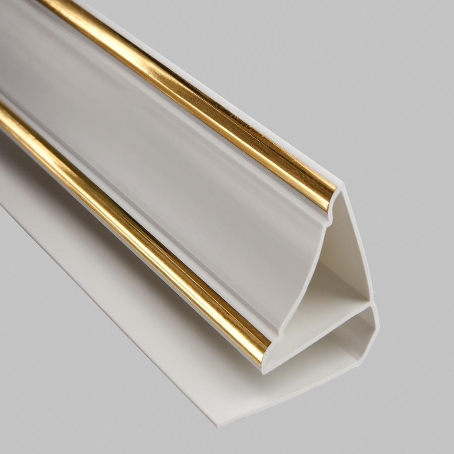 'Профиль ПВХ Верхний плинтус 8мм, 3 м Gold Line