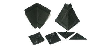 'Комплект фурнитуры для столешниц черный (1внутр.угол+2загл.)