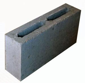 Блок пескобетон 90х188х390 пустотелый 9 кг.