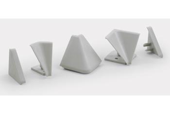 'Комплект фурнитуры для столешниц белый (1внутр.угол+2загл.)