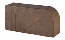 Кирпич каминный один. коричневый М-500 R-60  250х120х65 мм RAUF закругленный (поддон -256 шт.)