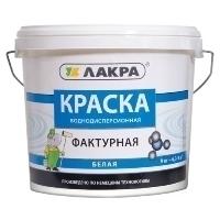 'Краска фактурная ЛАКРА 9 кг белый