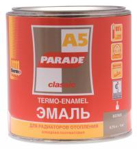 'Эмаль для радиаторов PАRADE А-5 белая п/матовая 0,75 гр