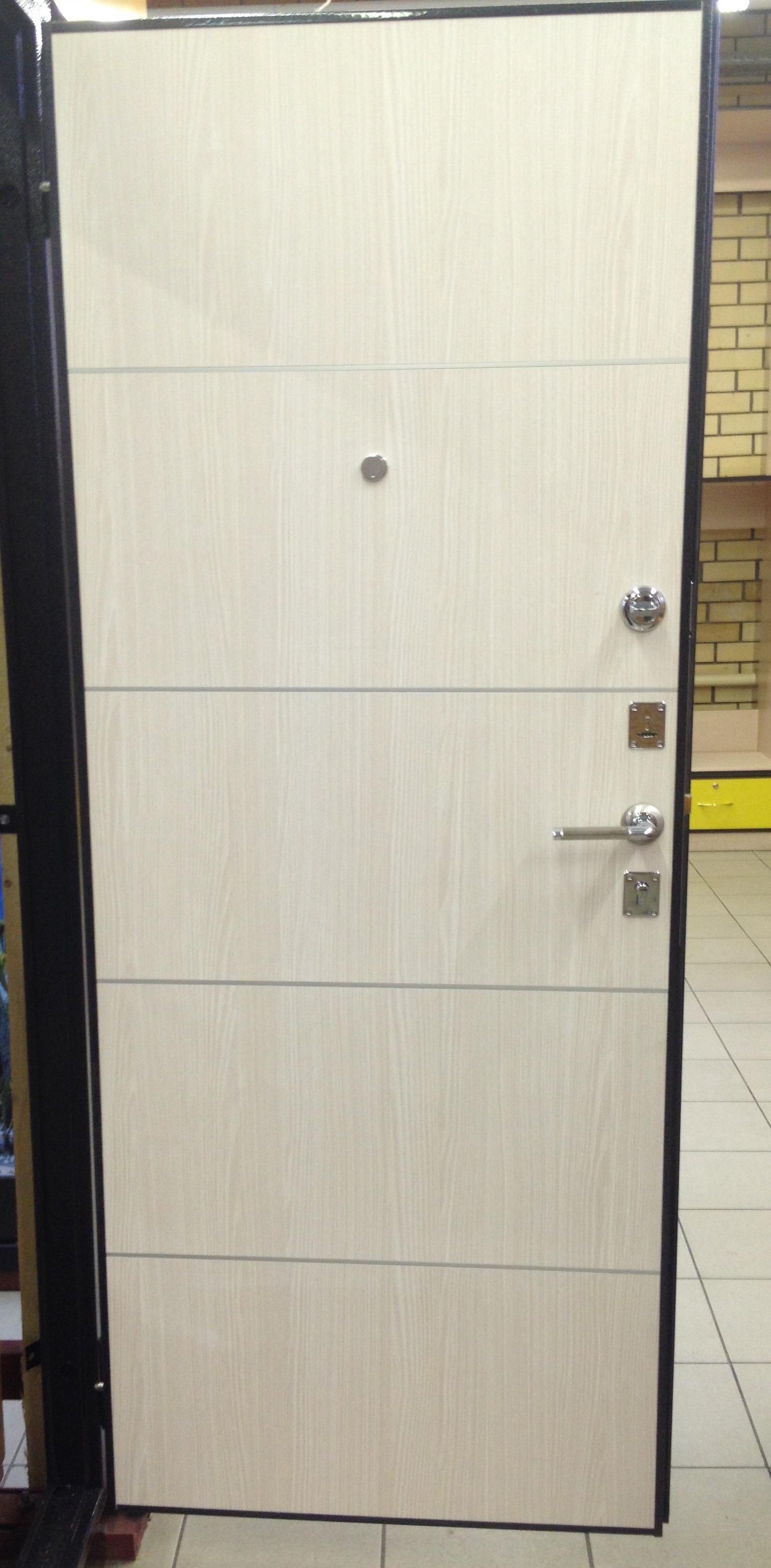 'Дверь мет.МК серый антик PX2 эшвайт мелинга 2050х880 правая(витрина)