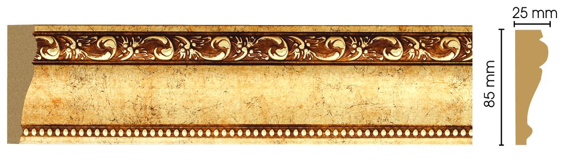 Плинтус полистирол 152-552