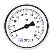 'Термометр биметаллический ф63 мм, гильза 50 мм c погружной гильзой