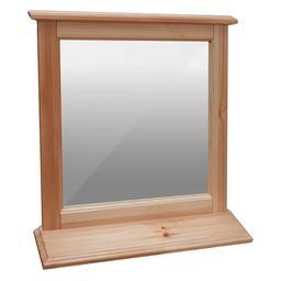Зеркало с полочкой 400х500 (ольха)