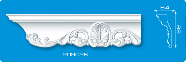 Плинтус потолочный волна 209028