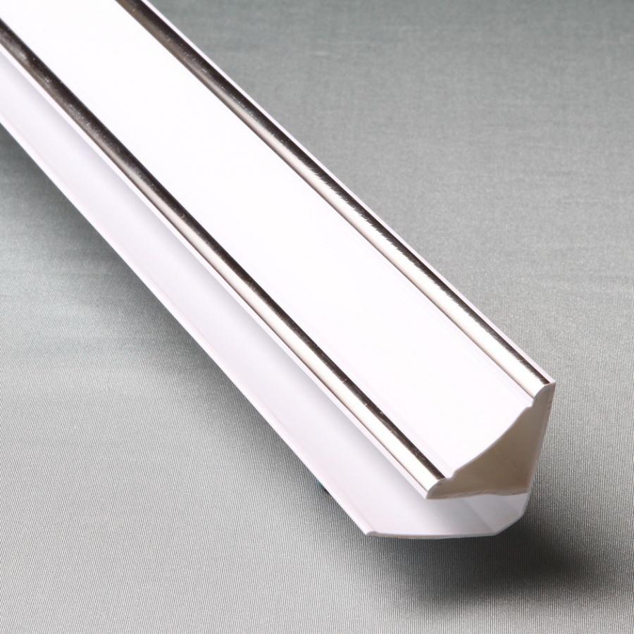 'Профиль ПВХ Верхний плинтус 8мм, 3 м Silver Line