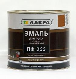 'Эмаль ПФ-266 для пола желто-коричневый 3 кг (Лакра Синтез)
