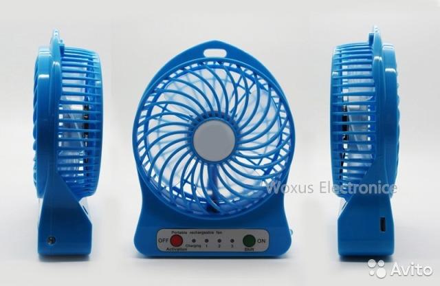Вентилятор  настольный на батарейки Китай