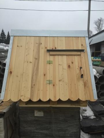 Домик на колодец деревянный