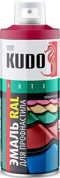 Краска аэрозоль KUDO 520мл сатин бордо RAL3005