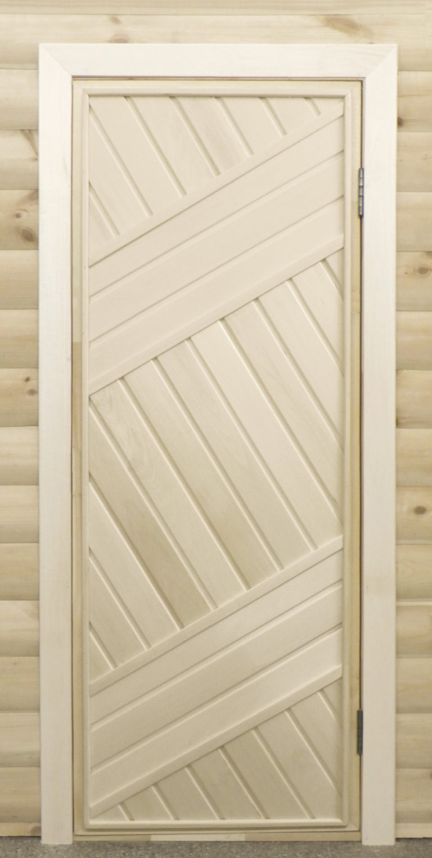 Дверь банная липа глухая из цельного массива 1,7х0,7  (7345р.)