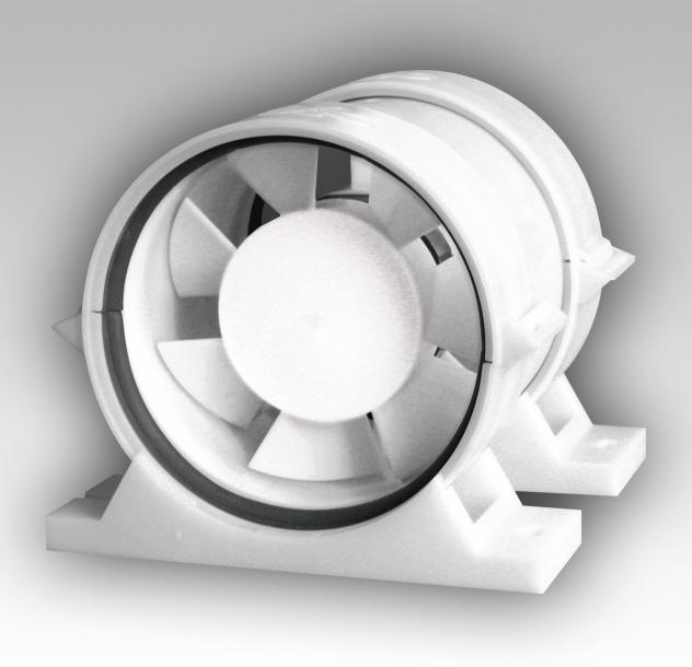 Вентилятор осевой канальный ПРО4 приточно-вытяжной