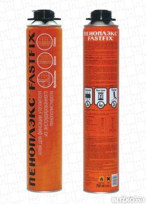 Клей для пенополистирола PENOPLEX Пена-клей Профи 750 мл (375р.)
