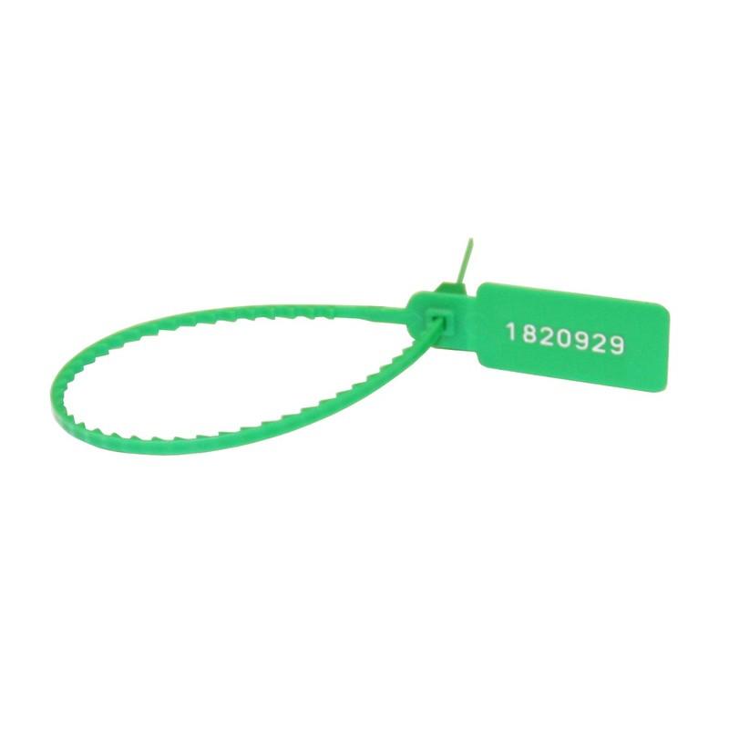 'Пломба пластиковая,номерная 220мм,зеленая Рексант 07-6113