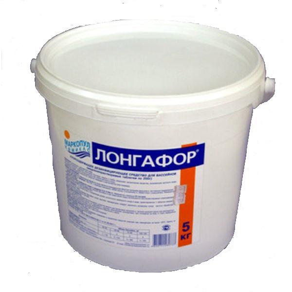 Маркопул Кемиклс/на основе хлора/ Лонгафор/ 2,6 кг ведро органический хлор-90% табл.200 гр.