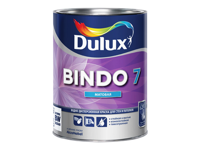 Краска База С BINDO 7 д/стен и потолков 0,9л