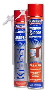 Пена монтажная КRASS д/окон и дверей бытовая 750 мл
