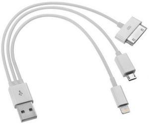 'Провод USB для сотового телефона 3 гнезда