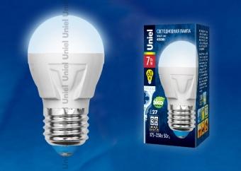 Лампа светодиодная  G45-7W/WW/3000/E27/FR PLР01WH