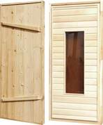 Дверь банная липа вставка стекло 1,7х0,7 (4725р.)