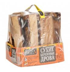 Дрова береза в термоупаковке 15 литров GREENEX