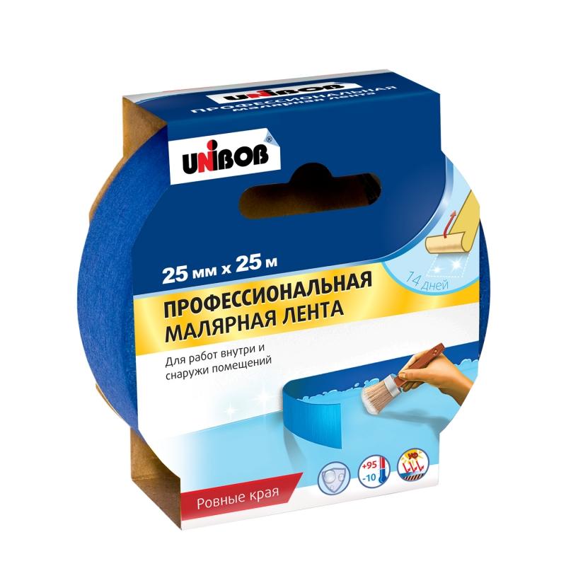 'Скотч малярный UNIBOB д/наружних работ 25х25м синий