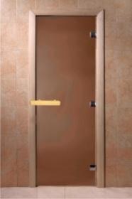 Дверь банная стекло DoorWood Бронза матовая 190х70см (Теплая ночь)