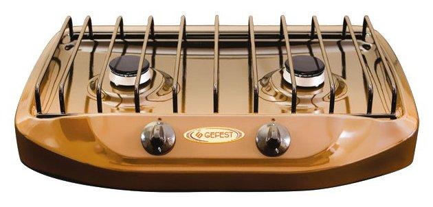 Плита газовая бытовая 2-х комф. Гефест коричневая
