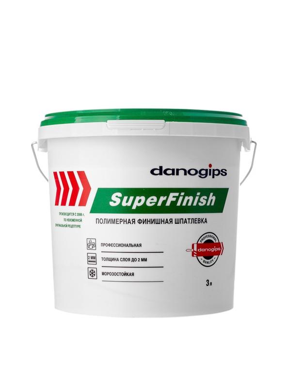 'Шпатлевка готовая Danogips Super Finish 5кг-3л (Шетрок)